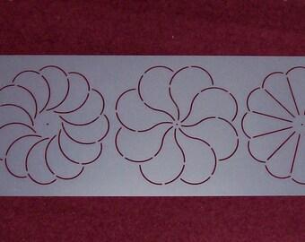 591 6.5 Corner Flower Quilting Stencil