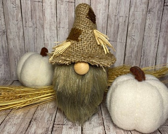 Fall Decor, Scarecrow, Fall Gnome, Gnomes, Scarecrow gnome, Autumn, Rustic Halloween
