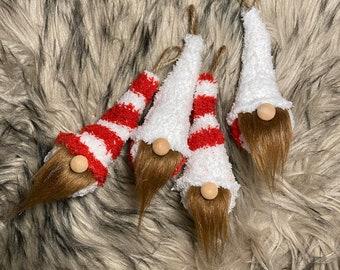 Sock gnomes, Fuzzy socks, Christmas ornaments, Gnome ornaments, Christmas Gift