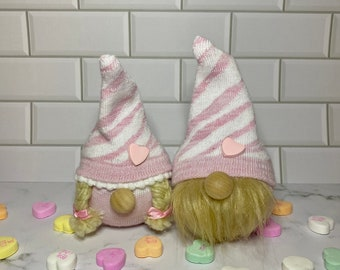 Valentine's Day, valentine gift, gift for her, gnomes, sock gnomes, pink