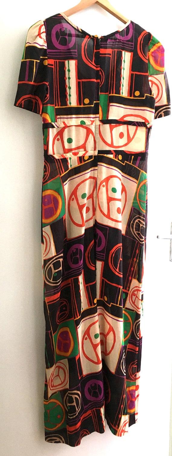 1960s Printed Cotton Maxi Dress - image 5