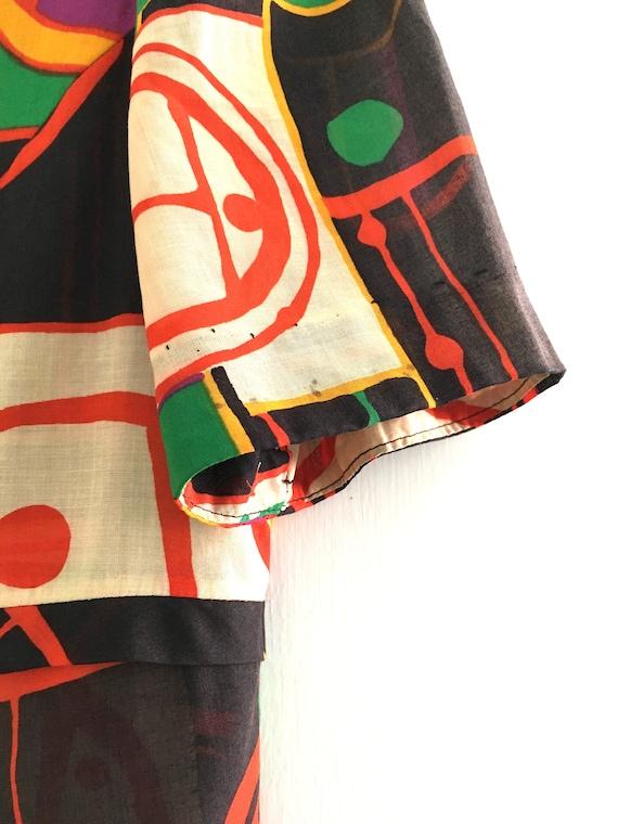 1960s Printed Cotton Maxi Dress - image 8