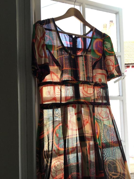 1960s Printed Cotton Maxi Dress - image 6