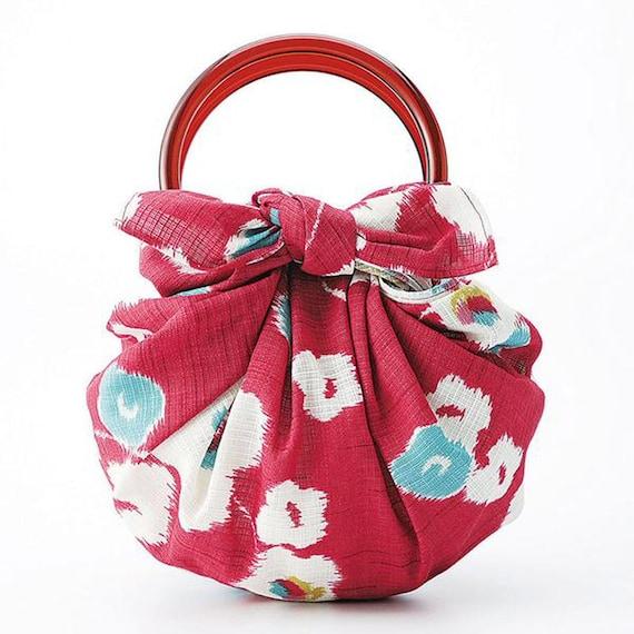 Japanese Furoshiki Wrapping Cloth Modern Girl Cherry Blossoms 70cm Kyoto