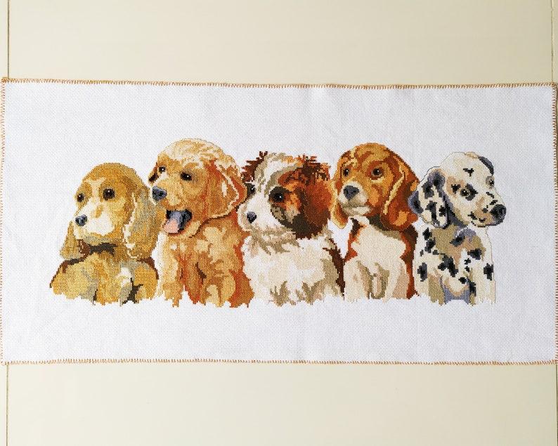 24x 12 Dogs Finished Cross Stitch