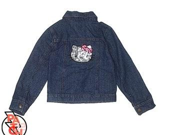 7c55490e4 Hello Kitty Denim Jacket- Girls 4T