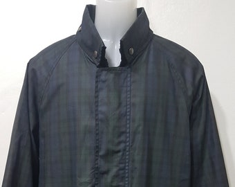 486473b2b35 Vintage Burberry reversible jacket men-vintage windbreaker-spring jacket  Burberrys Nova Check Green size L 52- 90s jacket-retro jacket