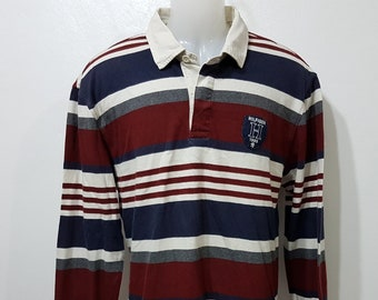 f9d10719b Vintage Tommy Tilfiger Polo Sweatshirt Mens Size L Polo Sweater 80s 90s Tommy  Hilfiger Hoodie Small Logo Patch White Long sleeve