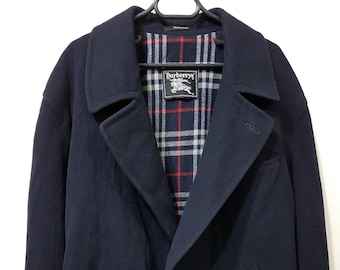 9ed67067889 Original Vintage Burberry jacket Coat jacket mens drak blue size   54
