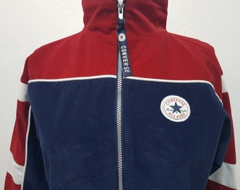 5163aac2e57b Vintage converse all star womens jacket sportjacket multicolor size  XL converse  all star hoodie track training jacket 90s windbreaker