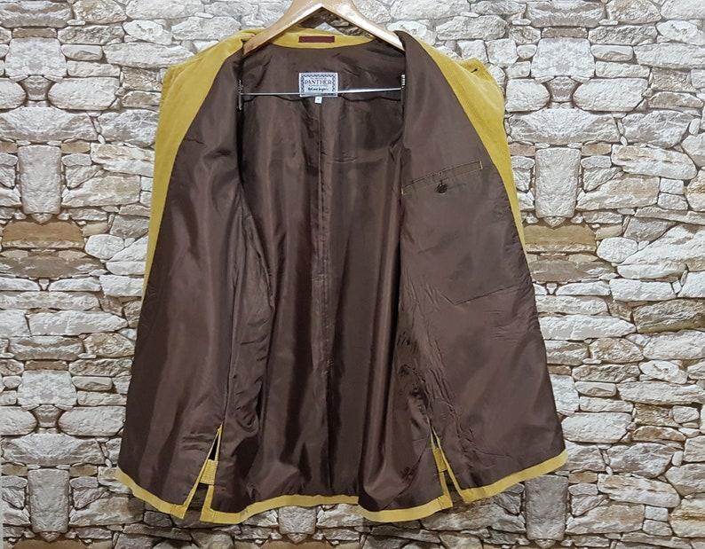 XL old school retro Panther supreme quality cord spring jacketvintage clothing men Vintage 90s cord jacket shirt men size