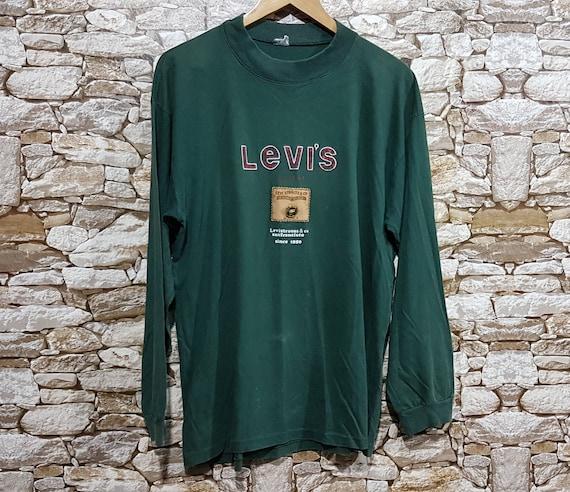 Vintage levis sweatshirt sweater Men green size: L