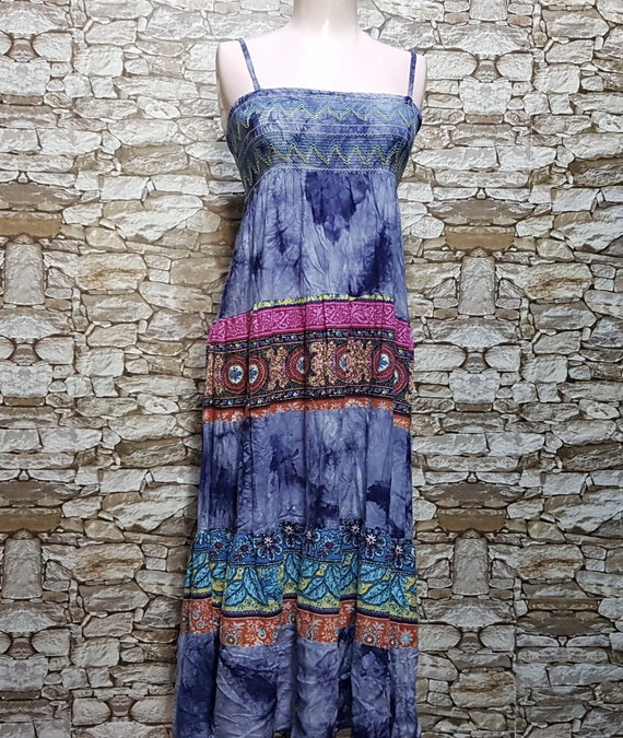 vintage tank dress women/boho hippie Summer chiffo