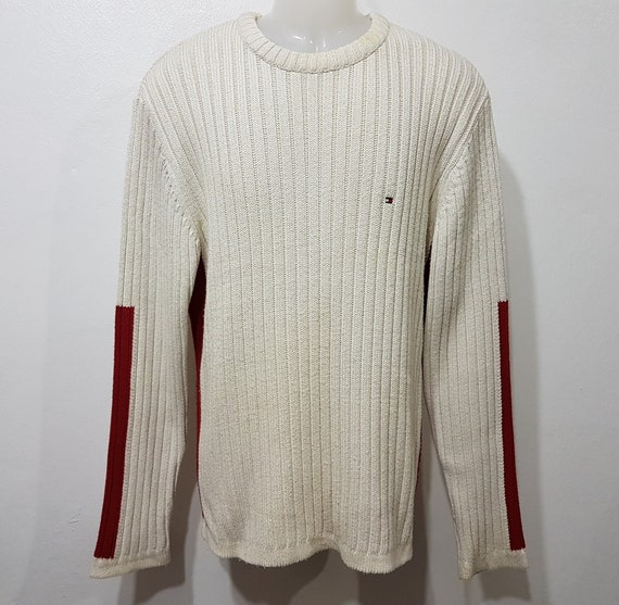 vintage Tommy Hilfiger sweater red white size L kn