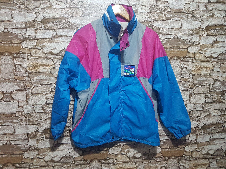 vintage 90s multicolor windbreaker snowboard