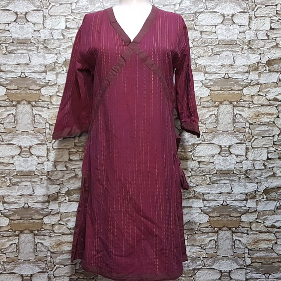 vintage Cheongsam Striped dress women/hippie Summe