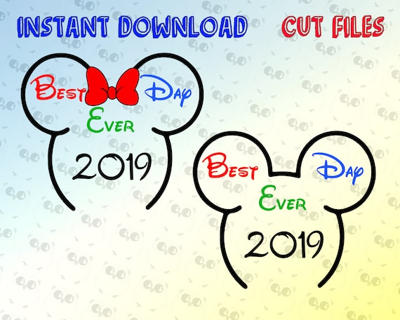 Best Day Ever SVG, Disney SVG, instant download for cricut and silhouette,  Disney trip svg, Mickey and Minnie Mouse SVG, Disney Vacation svg