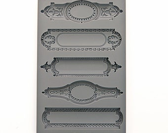 "IOD Vintage Art Decor Moulds - ""Object Labels 2"""