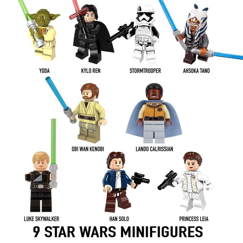 Set of 9 pieces STAR WARS minifigures
