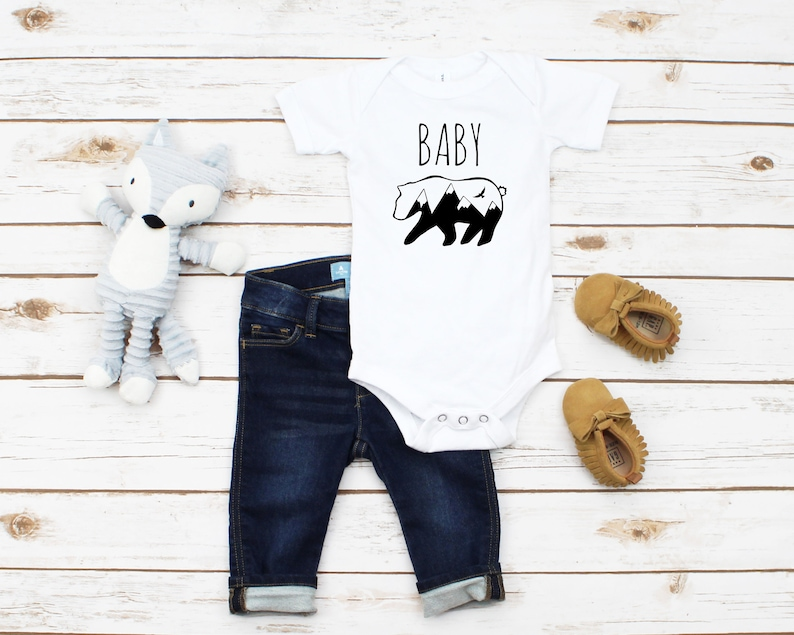 Baby Bear Onesie Boho Baby Gift Outdoors Baby Onesie Sibling Gifts Infant Bodysuit Baby Bear Infant Onesie Boho Baby Onesie