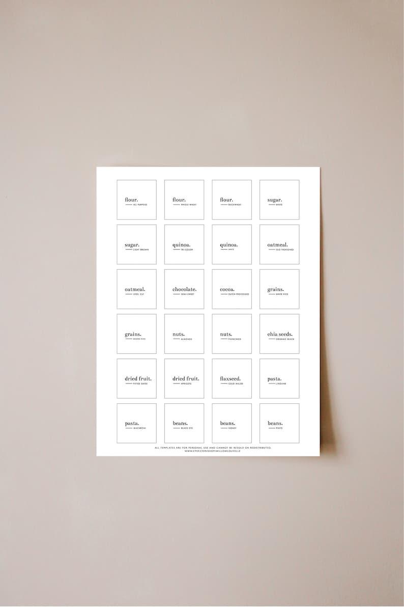 Printable Pantry Labels Editable Labels Editable Pantry image 0