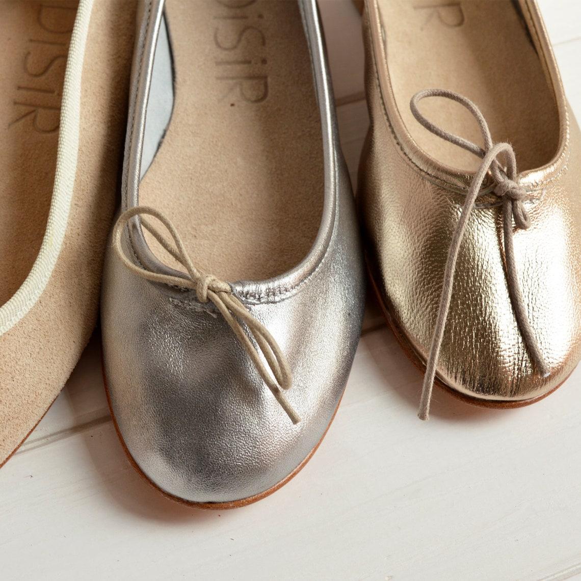SUPER SOFT! Ballerine in pelle, laminata argento. Scarpe donna eleganti. Realizzate in Italia con materiali naturali. Flat blush  ballerina - Scarpe alla moda 4xzGTMme nWOHtW x8s26o
