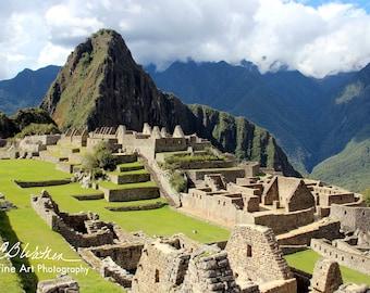 204e58bde Color Photo, Machu Picchu, Nature, Horizontal, Picture, Digital, Ruins, Peru,  Mountains, Scenery, Clouds, Ancient, Historic,