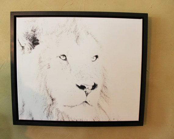 kenyahome Lion Abstract Photography Art Africa Kenya Home Decor Animal Face Nature Wildlife Black And White Horizontal Minimalist