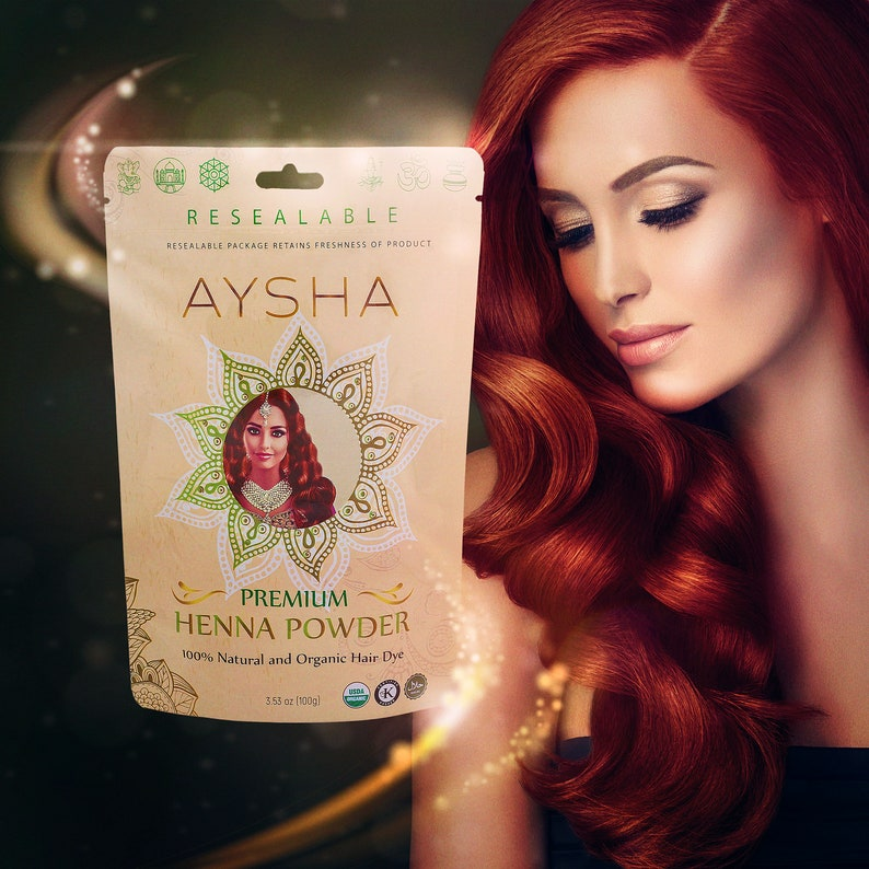 ceb52212d878 100% Pure Natural & Organic Premium Henna Powder by Aysha Organics