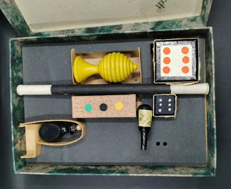 Zauberkasten Antique German Magic Box of Tricks Toy