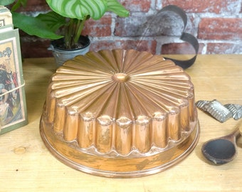 very nice old copper tin, cake tin, baking pan, mould - Walter W. Germany