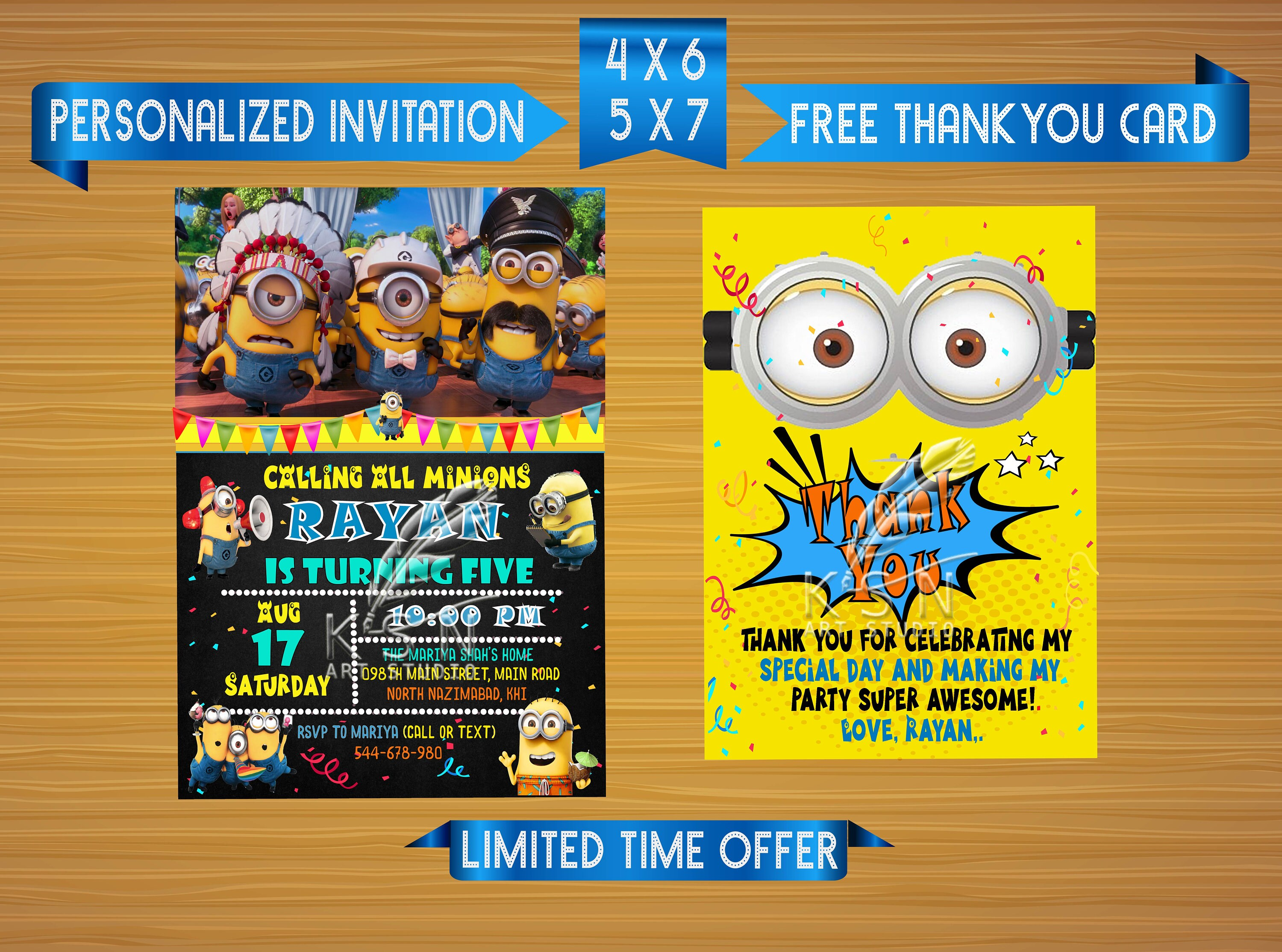 This is an image of Free Printable Minion Invitations with regard to downloadable