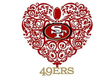 40954f5fc8d San Francisco 49ers Football Heart SVG