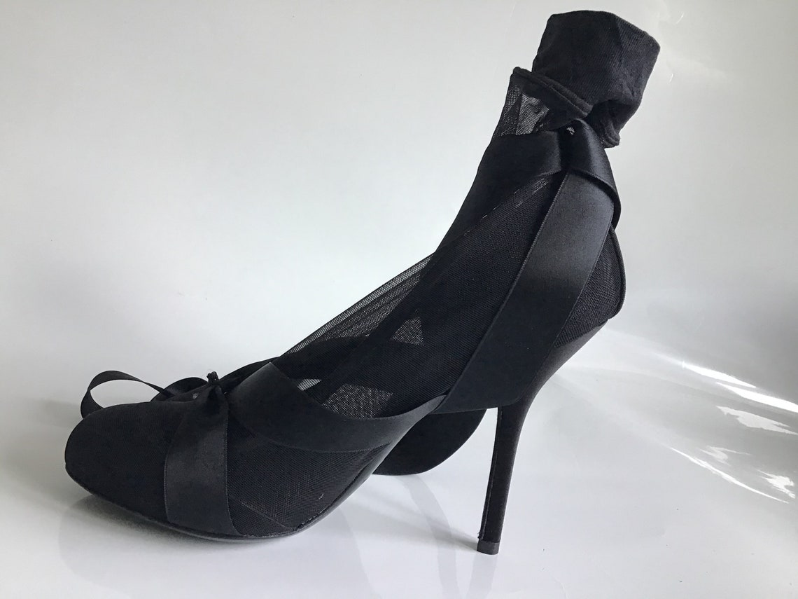 Dolce & Gabbana  Decolte pelle e raso nero con punta aperta misura 39 stilettò heel cm 11 . Spettacolari ed elegantissime - Scarpe alla moda gPUKjj1A shB8h1 3JgtuI