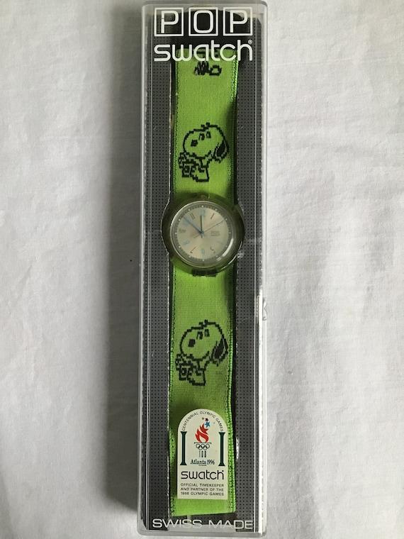 Vintage Swatch - Snoopy Swatch - Elastic strap - v