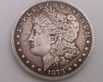1878 - S Morgan Dollar Silver USA Coin Very Fine Condition