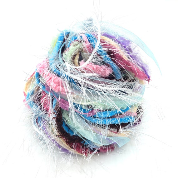 Yarn fiber arts bundle 24yrd scrapbook or junk journal embellishments pack gift wrapping dreamcatcher diy craft kits mixed media collage