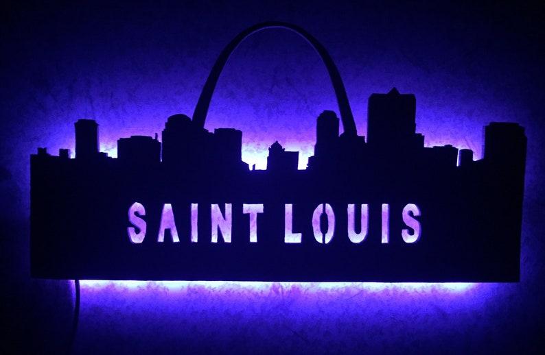 Saint Louis city skyline LED wall art