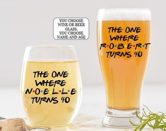 Funny Beer Can Pint Glass Lordy Look Who/'s 40 Etched Sayings 40th Birthday Gift for Men and Women Turning Forty Lordy