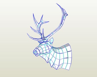 stag head template etsy