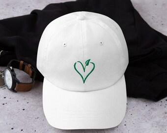 adb480a4d9b18 Vegan Heart Symbol Logo Healthy Vegetarian Dad hat