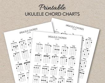 photo relating to Printable Ukulele Chord Chart titled Ukulele chord chart Etsy