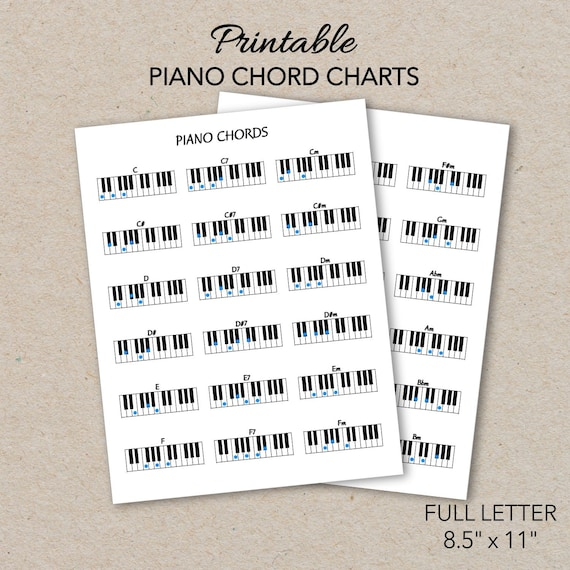It's just a graphic of Printable Piano Chords with regard to sample piano