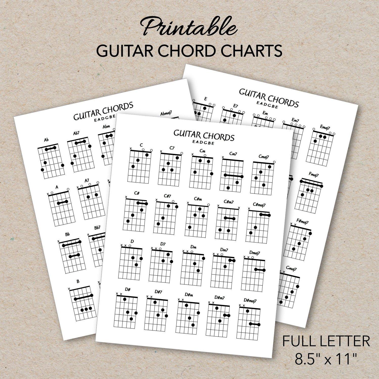 photograph regarding Guitar Chord Chart Printable known as Guitar Chord Charts, Printable PDF Structure, Letter Dimension, Print at residence
