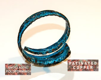 Hand Painted Faux Aqua and Blue Patina Fairy 48mm x 39mm