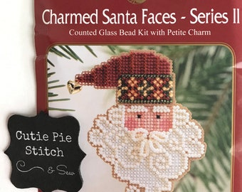 10/% Off Mill Hill Charmed Santa Faces Series II X-stitch//Bead Kit-Santa Noel