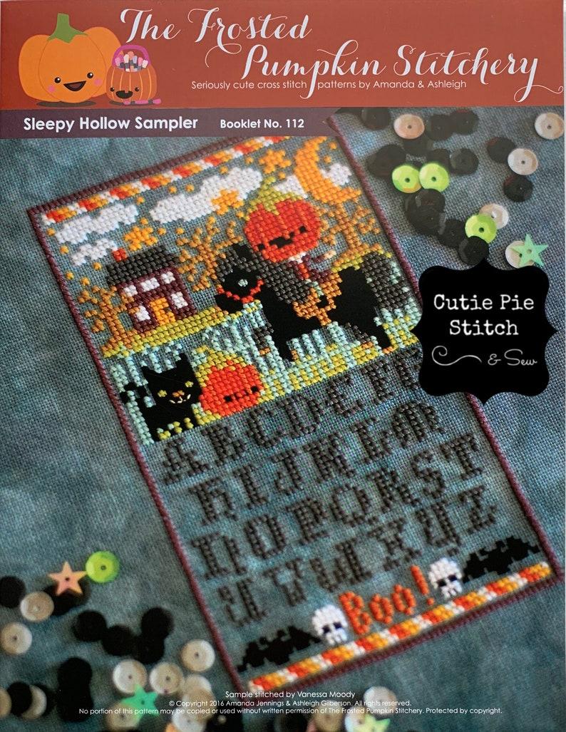 FROSTED PUMPKIN STITCHERY Sleepy Hollow Sampler Counted Cross Stitch Pattern~Halloween Cross Stitch~Sleepy Hollow Cross Stitch Pattern