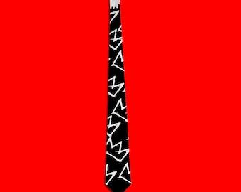 c6323f65c5 Jean Michel Basquiat crown inspired tie