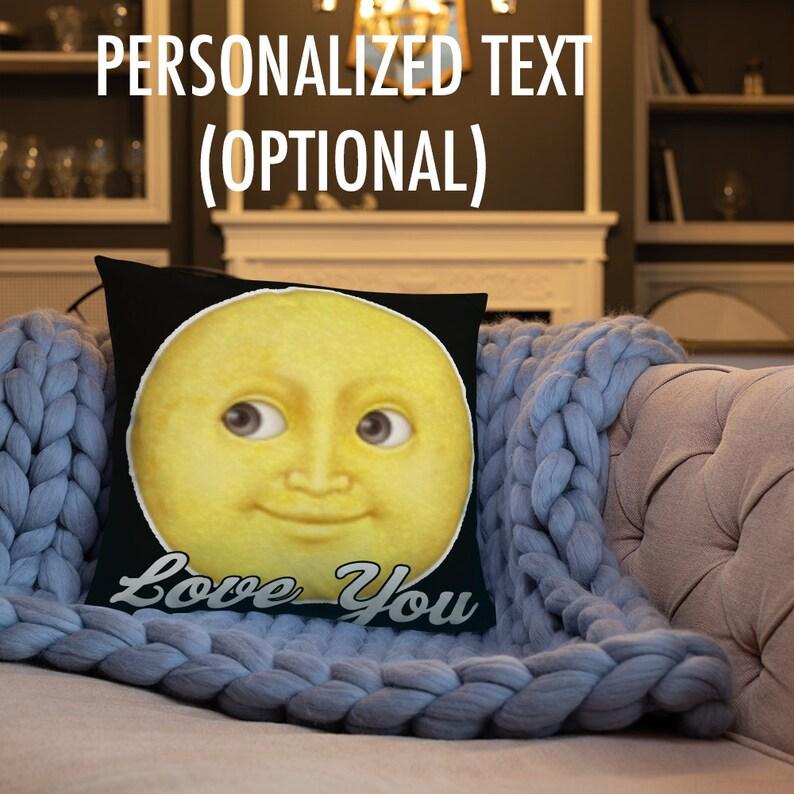 Custom emoji throw pillow   funny emoji pillow   emoji gift pillows   funny  pillow gift