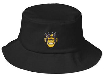Old School - Bucket Hat - Sun Hat - Custom Bucket Hat - Mens Bucket hat - Bucket  hat Vintage - Beach Hat 7eea3b77cc71